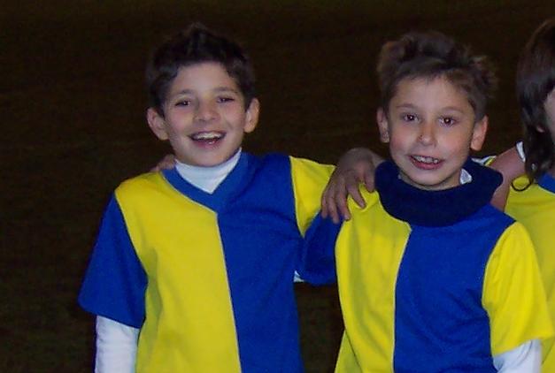 Ignacio y Chema en su etapa como benjamines del C.D. Vedruna.