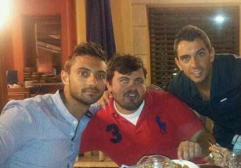 Marcos, Joselito y Bosi, tres de los protagonistas en la noche de ayer.