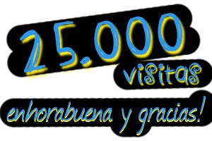 Llegamos a las 25.000 visitas