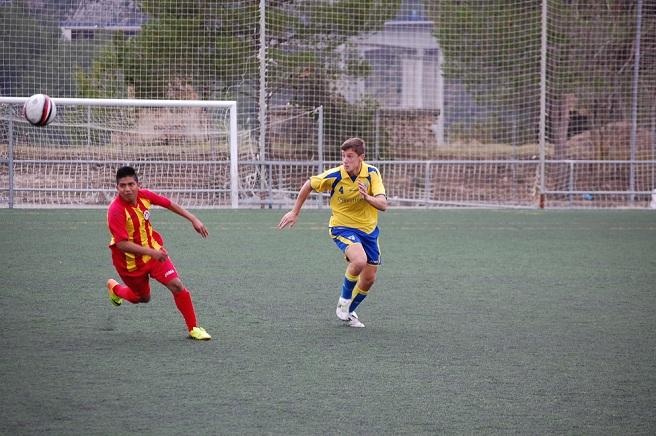 Chema, autor del único gol del Juvenil.
