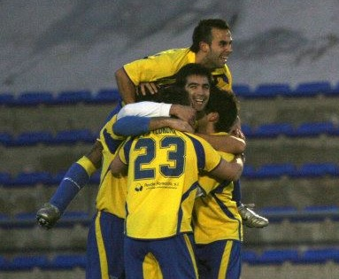 En la imagen Chodi, autor de uno de los goles en la mañana de hoy.